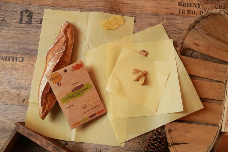 Emballage alimentaire réutilisable Apifilm de L′Atelier du Miel au magasin Avenir bio Rennes