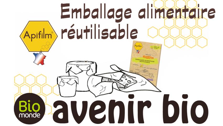 Apifilm emballage alimentaire réutilisable de L'atelier du miel
