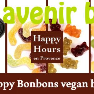 Happy Hours en Provence, les happy bonbons vegan bio