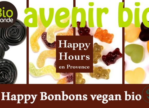 Happy Hours en Provence, les happy bonbons vegan bio