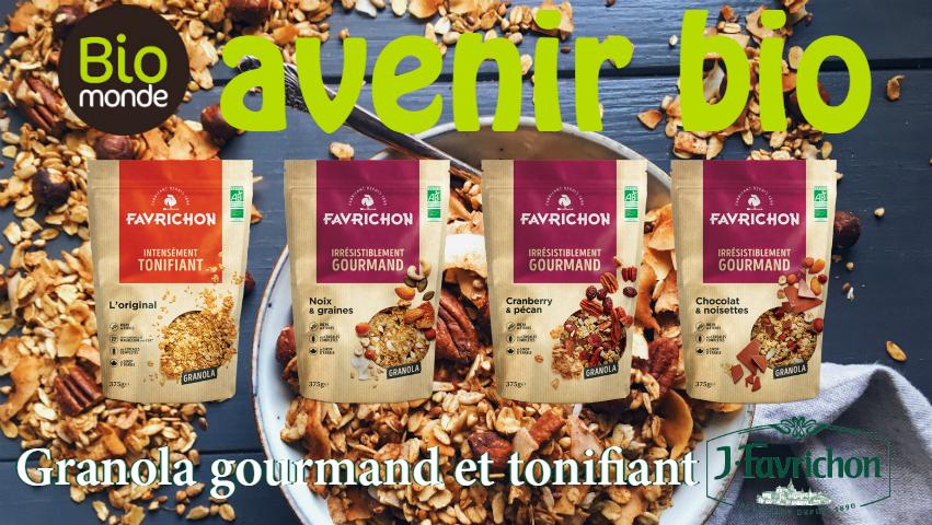Nouveau, Granola gourmand et tonifiant de Favrichon
