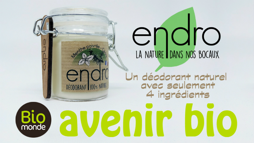 Endro, 4 déodorants naturels «Made in Breizh»