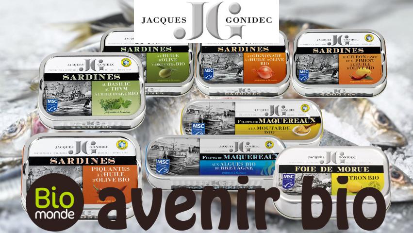 Les conserves de sardines, maquereaux et foie de morue Gonidec