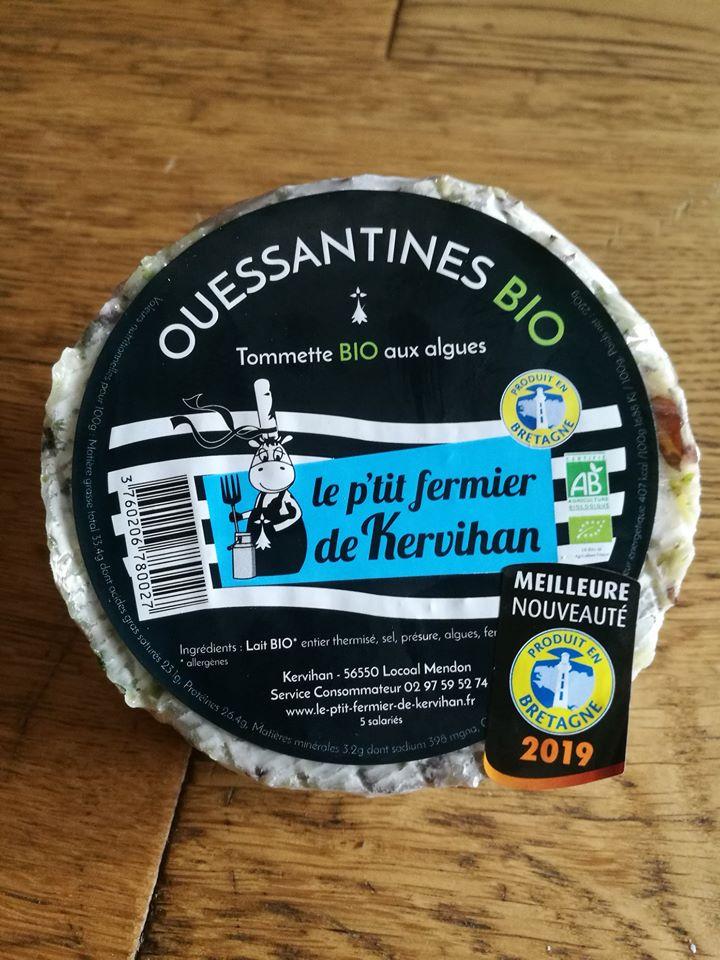 La ouessantines, tommette aux algues chez Avenir Bio Rennes
