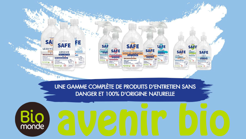 Les produits d'entretiens Safe de Naturopera
