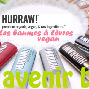 Les baumes à lèvres vegan HURRAW!