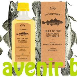 La véritable huile de foie de morue naturelle de Lysi