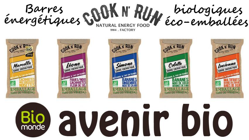 Coock-N-Run, les barres énergétiques biologiques & éco-emballées
