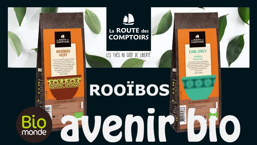 Découvrez le Rooïbos de La Route des Comptoirs dans votre magasin Avenir Bio Rennes