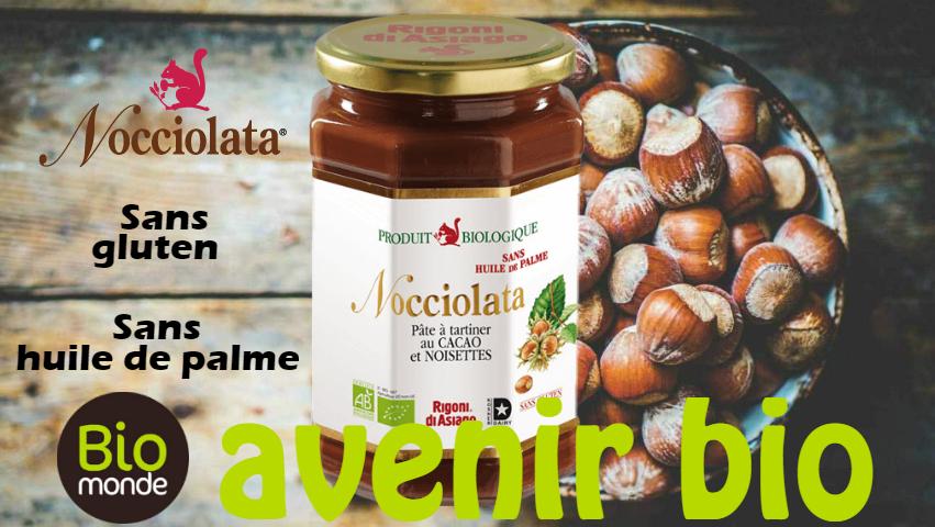 Découvrez la pâte à tartiner Nocciolata dans votre magasin Avenir Bio Rennes