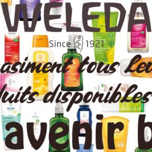 Les produits bien-être de la marque Weleda