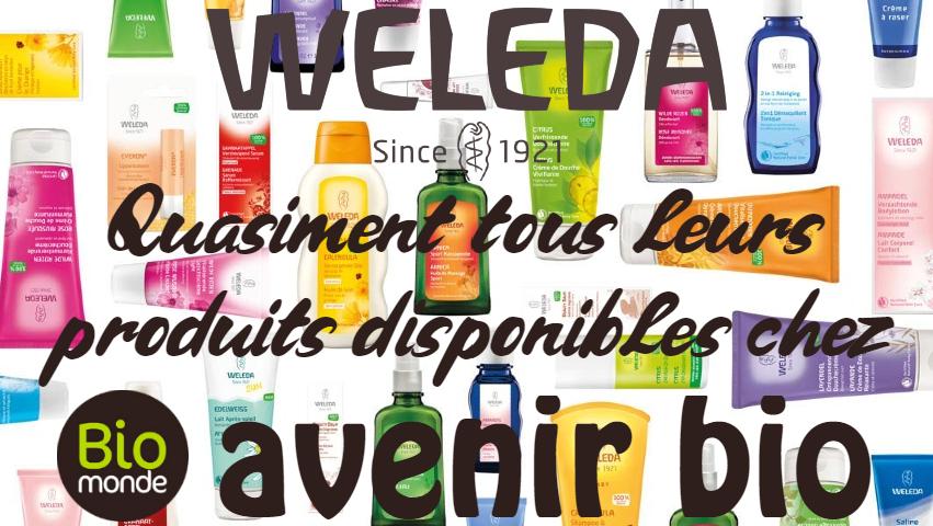 Retrouvez les produits de bien-être de la marque Weleda dans votre magasin Avenir Bio Biomonde à Rennes