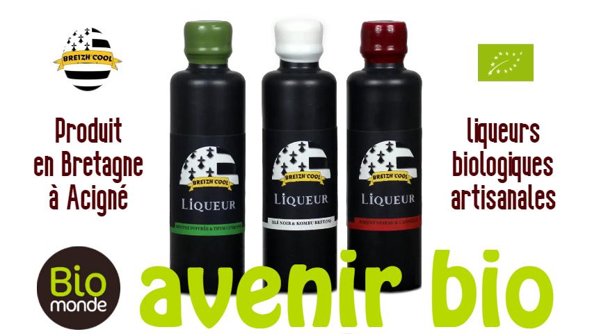 Votre magasin biologique Avenir Bio à rennes vous fait découvrir les liqueurs Breizh Cool