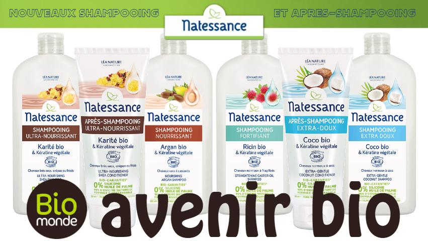 Nouveaux shampooing et après-shampooing Natessance