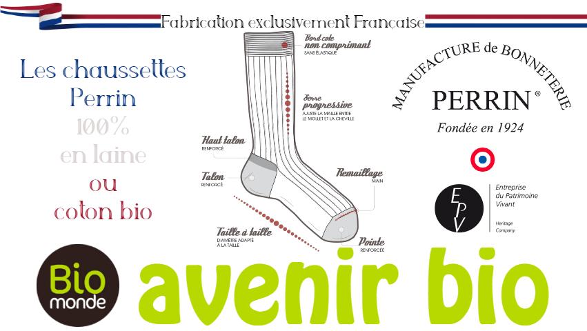 Votre magasin biologique Avenir Bio à rennes vous fait découvrir la chaussette La Manufacture PERRIN