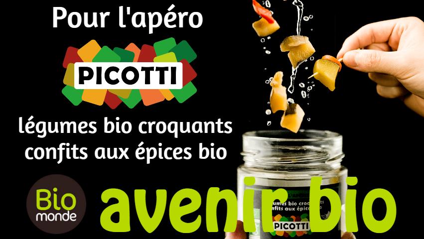 Votre magasin biologique Avenir Bio à rennes vous fait découvrir Picotti, des légumes croquants pour l′apéro
