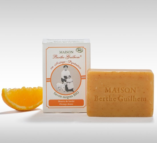 Savon beurre de karité et orange douce dans votre magasin bio rennes