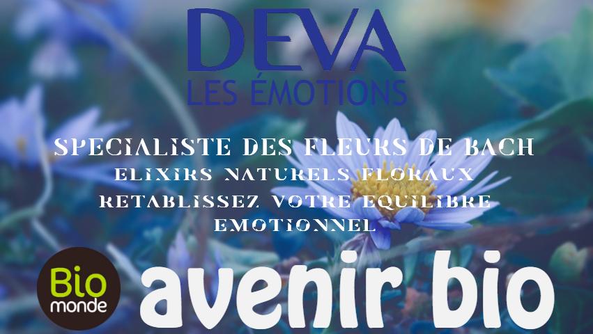 Composés et élixirs floraux Deva les émotions au magasin avenir bio biomonde rennes