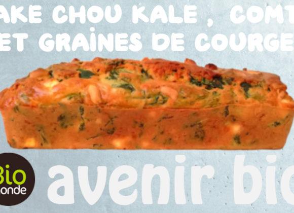 Cake chou kale, comte et graines de courge