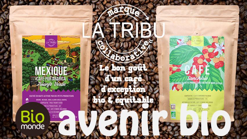 Votre magasin biologique Avenir Bio à rennes vous fait découvrir les cafés La Tribu