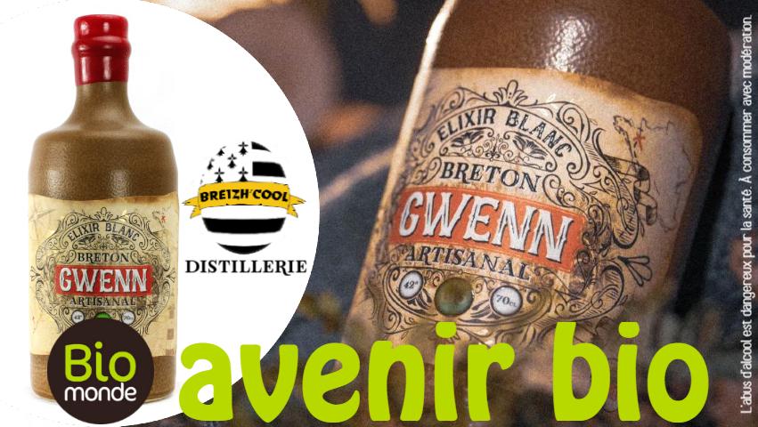 Gwenn Elixir Blanc de la Distillerie Breizh Cool dans votre Magasin Bio Rennes